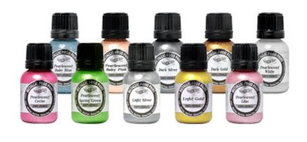 Pearlescent Food Paints