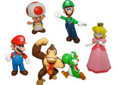 Super Mario Bros Character Cake Toppers