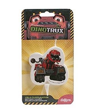 Dinotrux 2D Cake Candle