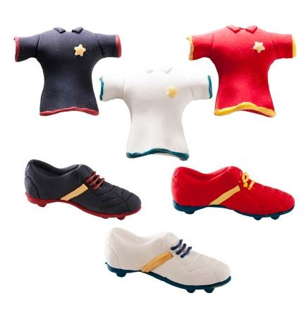 Black Football Boot Sugar Topper