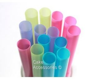 Super Wide Pastel Mix Straw Colours