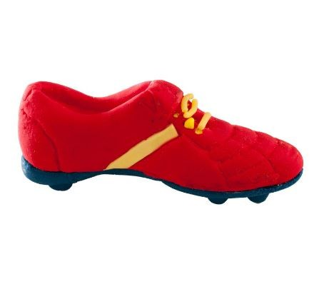 Red Football Boot Sugar Topper
