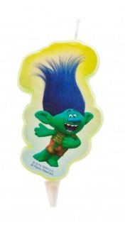 Trolls Branch 2D Cake Candle