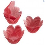 Petal Hearts Damask Baking Cups