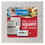 "Kingfisher Catering 10"" Square Thick Cake Board"
