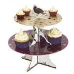 Christmas Partridge 2 Tier Card Cake Stand