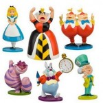 Alice In Wonderland 6 Figure Cake Topper Set
