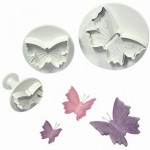 3 Size Set Butterfly Plunger & Embosser Cutters