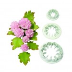 Set of 3 Carnation Cutters for Icing & Cake Decoration