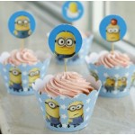 Set of 12 Despicable Me Minion Cupcake Wrapper & Topper Picks