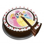 Disney Princess Large 16cm Printed Sugar Disc Cake Topper