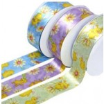 Purple Easter Satin Cake Ribbon