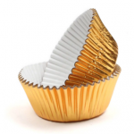 Gold Foil Cupcake Cases