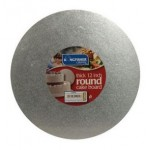 "Kingfisher Silver 12"" Thick Round Cake Board"