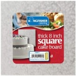 Kingfisher Catering 8Inch Square Thick Cake Board