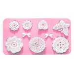 Lace Butterfly bows & doilies silicone mold