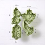 4 Piece Leaf Shapes Plunger Cutters