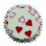PME Petite Heart Baking Cup Cake Cases