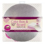 Queen of Cakes Pink & White Cake Box with Board