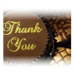 Scrumptious Cake Stencils Thank You