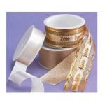 Trio Gold & Satin Cream Cake Ribbon