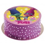 Licensed Trolls Edible Cake Disc Topper