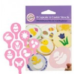 Wilton 8 Easter Cupcake & Cookie Stencils