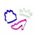 Wilton Princess Three Piece Cookie Cutter Theme Set
