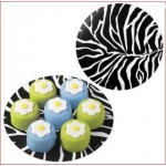 Zebra Print Doilies Add Color, Line Plates, Boxes For Animal & African Themes
