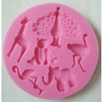 Zoo Animal Silicone Fondant & Chocolate Mold